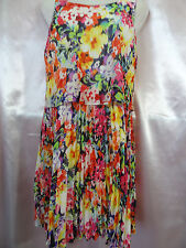 Ralph Lauren Multicolor Floral Chiffon Sleeveless Dress Pleated Dress Size 8