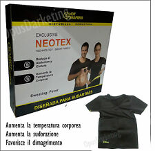 MAGLIA CANOTTA T-SHIRT NEOTEX SPORT PALESTRA TOP HOT SHAPERS DIETA JOGGINS SAUNA