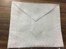 Master Mason Apron, All White Master Mason Apron,Masonic Regalia Aprons,MM Apron