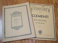 2 bks Sonatinas for Piano *Clementi + Kuhlau *Schirmer Library Vol. No. 40 + 52