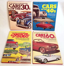 CARS Of the '30's,'40's,'50's, and '60's by CONSUMER'S GUIDE Hard Bk Dust Jacket