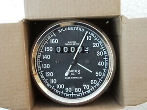 SMITH REPLICA SPEEDOMETER 160  KPH BLACK FACED FOR ROYAL ENFIELD