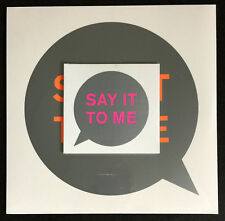 "PET SHOP BOYS * SAY IT TO ME * UK 12"" VINYL  + CD SET * BN&M! * SUPER"