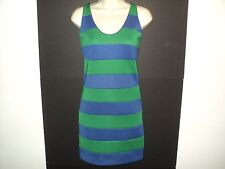 NEW Central Park West Size X Small XS Bandage Dress Blue - Purple Green Stripes