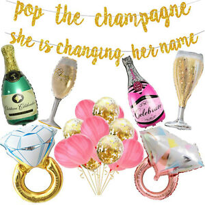Bridal Shower Decorations, Bride to Be Banner, Engagement Balloons, Hen Party