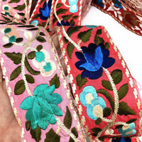 1yd Flower Floral Embroidered Trim Bohemian Ethnic Ribbon DIY Sewing Accessories