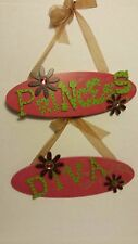 """Cute wooden plaques for Girls room """"Princess"""" and """"Diva"""""""