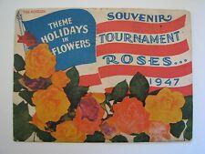 Pasadena Tournament of Roses 1947 Souvenir, Holidays in Flowers, 16 Color Photos