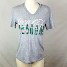 Coca Cola Gray T Shirt Green Recycled Bottles Coke Size S Short Sleeve