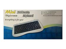 Mini Tastatur - PS/2 Anschluß - Multimedia Keyboard - Deutsches Layout QWERTZ