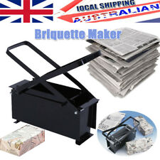 Paper Briquette Log Maker for Fire Stove Place BBQ Recycle Newspaper Brick Block