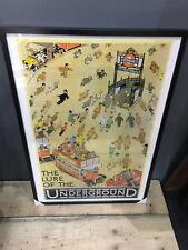 Vintage London Underground Poster Print Framed - Lure Of The Underground