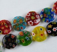 Millefiori Glass Mixed Flat Spacers 8mm-16mm