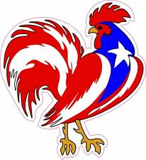 Puerto Rico Gallo Rooster Vinyl Sticker Decal