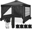 """Heavy Duty Canopy Party 10""""x10"""" Outdoor Wedding Tent Gazebo with 4 Side Walls US"""
