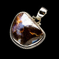 """Boulder Opal 925 Sterling Silver Pendant 1 3/8"""" Ana Co Jewelry P713867F"""