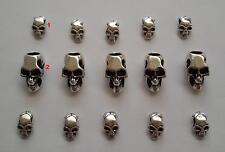 15 stück Skull Set 13 Beads Großloch Perlen Paracord Lanyard Armband Totenkopf