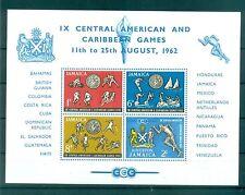SPORT - IX CENTRAL AMERICAN & CARIBBEAN GAMES JAMAICA 1962 block