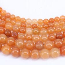 """15"""" Aventurine Jade Round Gemstone Round Loose Spacer Beads 4/6/8/10mm Finding"""