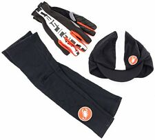 Castelli Thermal Winter Cycling Accessories Arm Warmers Gloves Cap MEDIUM Bike