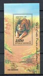 38381) Indonesia 1995 MNH Tiger S/S