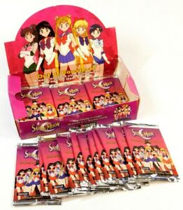 SAILOR MOON 17 SEALED BOOSTER PACKS WITH BOX TCG DART LOT 1 EDITION