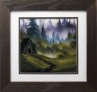 "Bob Ross ""Cabin in the Woods"" Happy Trees CUSTOM FRAMED ART Nature  Print Forest"
