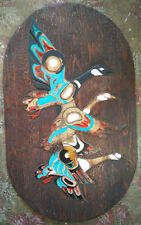 Unfinished Wood Carving Roughout Hand Carved Wall Hanging Geese Wetland 46x21