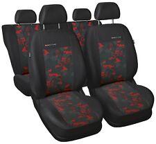 Ford Sierra Universal Sitzbezüge Schonbezüge Sitzbezug Velour Rot