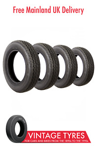 Set of 4 x Vredestein Sprint Classic 155SR15 Tyres 155R15 Beetle Karmann Saab 96