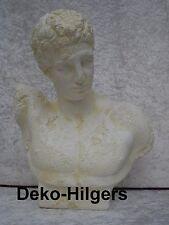 Büste Claudius Figur Stuckgips Dekoration Kopf Säule Statue Auf Alt Crem 2353