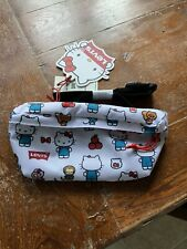 Levis Hello Kitty Sling Bum Bag Fanny Pack Waist - White - 45th Anniversary