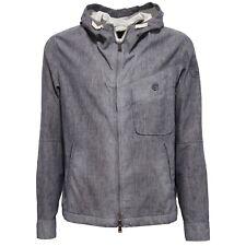 9760W giacca antivento uomo NORTH SAILS vintage linen blue/white jacket man
