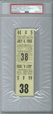 1955 BROOKLYN DODGERS FULL DATED TICKET JULY 4 @ PHI. WORLD SERIES CHAMPS PSA 7