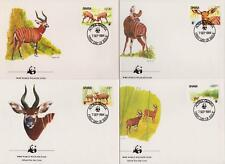 Ghana 1984 World Wildlife Fund - Antelopes - 4 First Day Covers - (94)