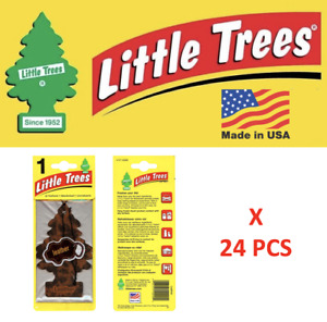 Leather tree Freshener 10290 Little Trees MADE IN USA Pack of 24