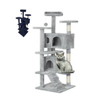Large Cat Tree Climbing Tower Kitten Scratcher Scratching Activity Centre
