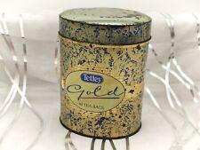 More details for tetley gold-vintage tea tin/caddy
