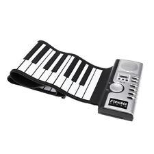 Flexible Roll Up Electronic Soft Keyboard Piano Portable 61 Keys W3J5