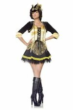Sexy Yellow Vixen Wench Pirate Womens Halloween Costume SEVEN TIL MIDNIGHT ~ M
