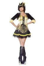 Sexy Yellow Vixen Wench Pirate Womens Halloween Costume SEVEN TIL MIDNIGHT ~ M