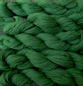 100% wool yarn fingering weight, 5 skeins,  green