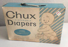 Vintage Chux Disposable Baby Diapers Box of 24 Large (1961)
