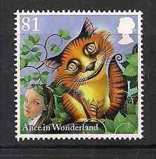 2015 QEII Alice au pays des merveilles Cheshire Cat Timbre commémoratif SG 3662