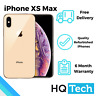 Apple iPhone XS Max 64GB 256GB Black Silver Gold Unlocked Refurbished Smartphone