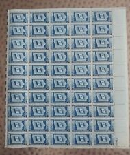 U.S. MINT STAMP SHEET #942, IOWA STATEHOOD CENT.., 3 CENTS, Blue, 1946 MNH, OG