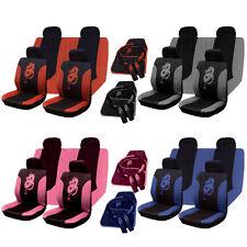 13Pc universel complet jeu de housse siège voiture Dragon Style Gris Noir Lavable ROSE ROUGE