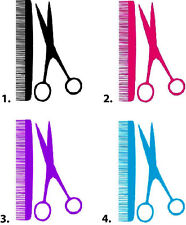 Waterslide Nail Decals Set of 20 - Hairdresser Comb and Shears Scissors
