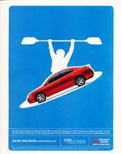 2005 Mitsubishi Galant - red - Classic Car Advertisement Print Ad J98