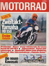 2854M Motorrad 1980 7/80 Guzzi V35 Honda CBX KLX 250 Imola RD 350 Suzuki RG 500